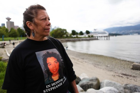 Michele Pineault, whose daughter Stephanie Lane's DNA was found on Robert Pickton's farm, at a missing women inquiry closure ceremony. Photo by David P. Ball