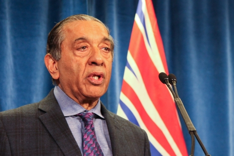 Wally Oppal, head of the British Columbia Missing Women Commission of Inquiry, released his critical report on the missing women inquiry on December 17, 2012. Photo by David P. Ball