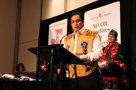 Keith Henry, President of the BC Métis Federation. Photo by David P. Ball