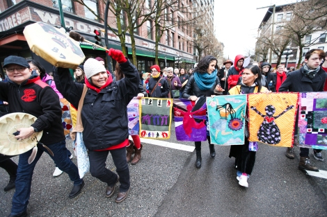 The motion to launch a committee to examine violence against aboriginal women came as hundreds rallied across Canada for missing and murdered women on February 14. Photo by David P. Ball