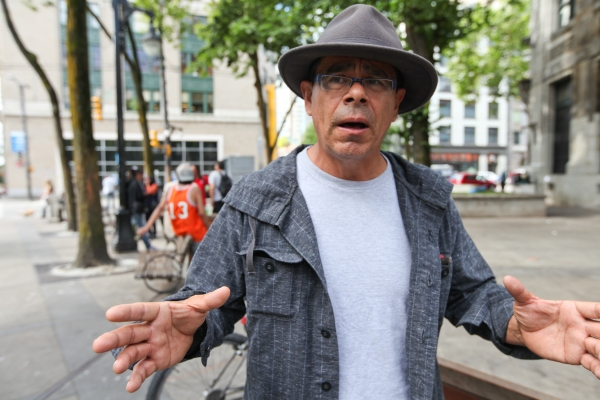 Scott Clark, Aboriginal Life In Vancouver Enhancement Society executive director, has joined Downtown Eastside businesses in criticizing anti-gentrification picket lines outside upscale restaurants. Photo by David P. Ball
