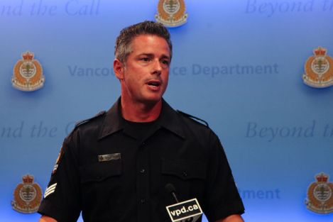 "Vancouver Police Department spokesman Sgt. Randy Fincham announced that fraud suspect Richard Earl Rupert, dubbed the ""Nephew Bandit,"" remains in custody after five years eluding authorities. Photo by David P. Ball"