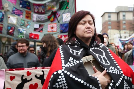 Shelley Joseph, community engagement lead for Reconciliation Canada, took part in the Women's Memorial March in February. Photo by David P. Ball