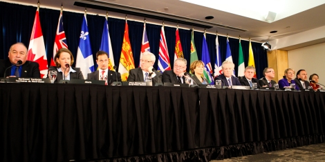 Canada's premiers at a 2012 health meeting in Victoria. Photo by David P. Ball