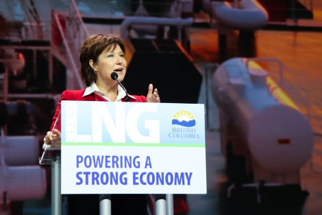 At this week's LNG in BC conference, Premier Christy Clark hyped the use of a fuel that a US methane expert calls a 'bridge to nowhere.' Photo by David P. Ball