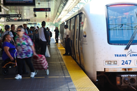 The Tyee has learned that 328 people are reported to Canada Border Services Agency from the TransLink system every year, according to a Transit Police spokeswoman. Photo by David P. Ball