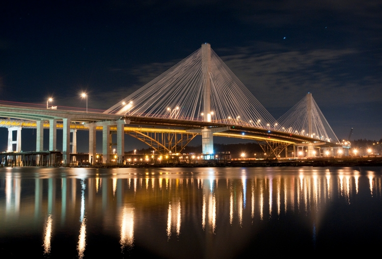 Port Mann bridge, seen from Coquitlam.