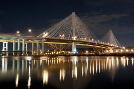 "The Port Mann bridge between Surrey and Coquitlam cost taxpayers $3.3 billion, significantly more than its original $2.4-billion ""fixed-price"" contract. Photo: Jennifer Gauthier"
